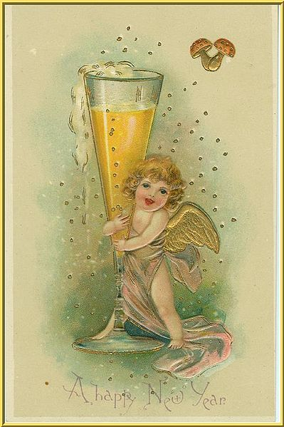 New Year Postcard from early1900s